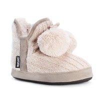 Muk Luks Women's Pennley Pink Acrylic/Polyester Slippers | Overstock.com Shopping - The Best Deals on Slippers