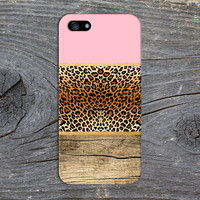 Pink x Leopard Print x Gold Wood Design Case for iPhone 6 6 Plus iPhone 5 5s 5c iPhone 4 4s Samsung Galaxy s6 s5 s4 & s3 and Note 4 3 2