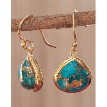 Lihue - Copper Turquoise Earrings (BJE047A)