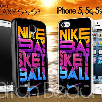 Nike BasketBall never stop colourfull design for iPhone 4/4s/5/5s/5c, Samsung Galaxy S3/S4 Case