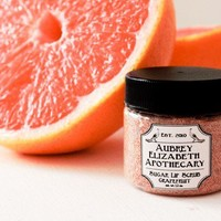 Grapefruit Sugar Lip Scrub - Citrus - 100% natural & vegan -  2 in 1 scrub and balm