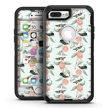 The Coral Flower and Hummingbird All Over Pattern - iPhone 7 Plus/8 Plus OtterBox Case & Skin Kits