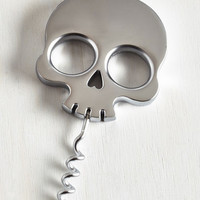 Skulls Macabre Heartthrob Corkscrew by Fred from ModCloth