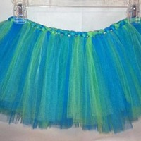 Girls Tulle TuTu - Seahawks (green & blue)