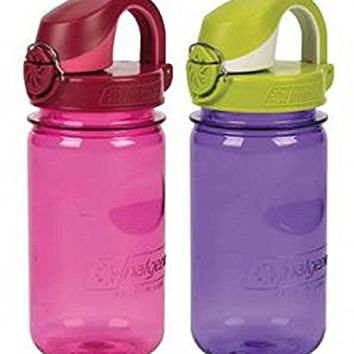 Nalgene On The Fly Kids Bottle Set of 2 Pink / Purple
