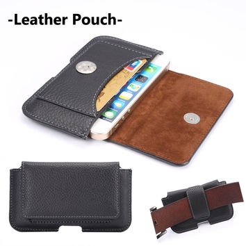 Men Belt Clip Holster PU Leather Mobile Phone Cases Pouch For iPhone 6 6S Plus 5 5S SE 4 4S Magnet Holster Original Phone Cover
