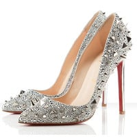 Christian Louboutin Pigalili 120mm Pumps Silver - $203.00