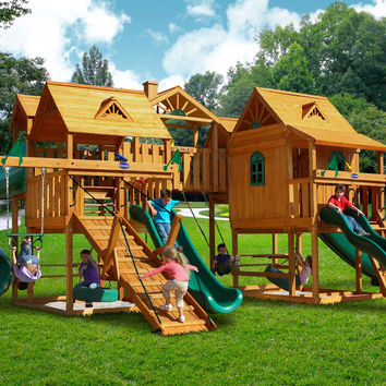 Playnation Abby's Palace Wooden Swing Set