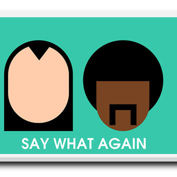 Pulp Fiction Say What Stretched Canvas Print