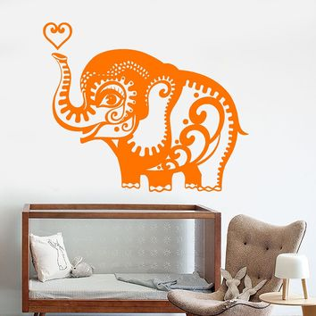 Vinyl Wall Decal Little Elephant African Animals Nursery Stickers Unique Gift (883ig)