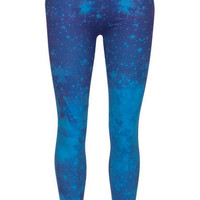 Blue Galactic Printed Seamless Legging