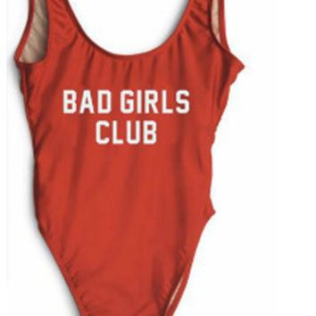 Bad Girls Club Women One Piece Bathing Suit Women Swimwear Swimsuit