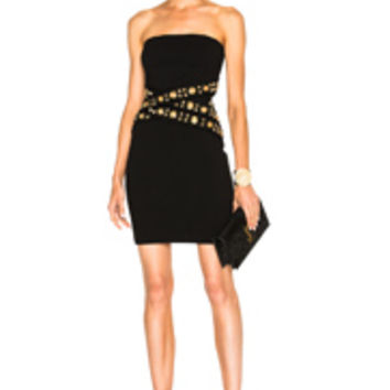 Alexandre Vauthier Strapless Waist Detail Dress in Black | FWRD