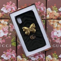 GUCCI Fashion Trending Cortex iPhone Phone Cover Case For  iPhone X I Phone 8 I Phone 8Plus Black G