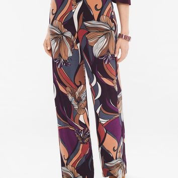 Chico's Baroque Floral Palazzo Pants