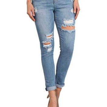 Celebrity Pink Jeans Switch Mid Rise Girlfriend Skinny Jeans
