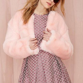 Nasty Gal Angel Baby Faux Fur Jacket