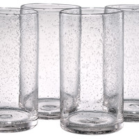 Iris Highball Glasses, Clear, Set of 4, Highballs