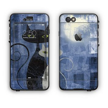 The Abstract Black & White Cats Apple iPhone 6 Plus LifeProof Nuud Case Skin Set