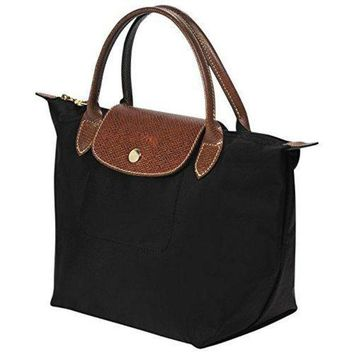 ONETOW Longchamp Le Pliage Black Nylon Small Tote Bag Handbag