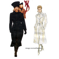 VOGUE COAT PATTERN Designer Couture Coats Vogue 1652 Yves Saint Laurent Vogue Paris Original 90s Womens Sewing Patterns Size 12 14 16 UNCuT