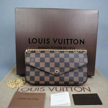 DCCKON Louis Vuitton Damier Felicie Ladies Wallet Bag Damentasche Pre-Owned Like New Free DHL