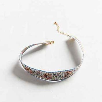 Rose Floral Choker Necklace - Urban Outfitters