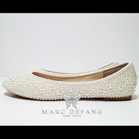 IVORY bridal luxury FLATS