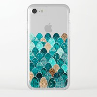 REALLY MERMAID Clear iPhone Case by Monika Strigel
