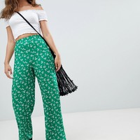 New Look Printed Wide Leg PANTS at asos.com