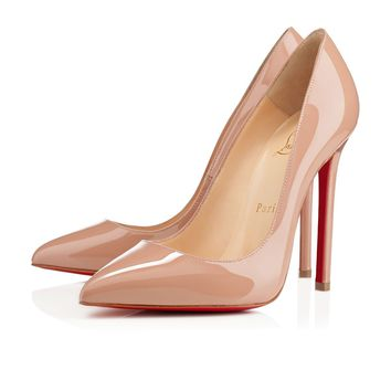 Best Online Sale Christian Louboutin Cl Pigalle Nude Patent Leather 120mm Stiletto Heel Classic