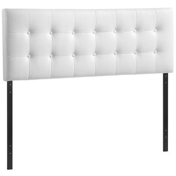 Emily Full Upholstered Faux Leather Headboard