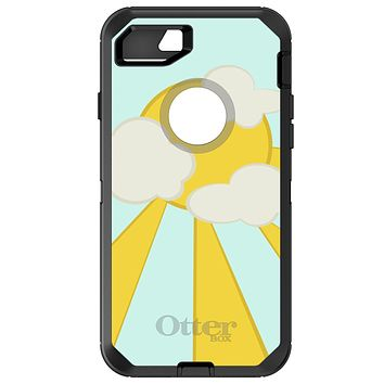 DistinctInk™ OtterBox Defender Series Case for Apple iPhone / Samsung Galaxy / Google Pixel - Blue Yellow Sun Sky Clouds