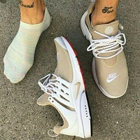 NIKE Air Presto Khaki White Edge Fashion Men Running Sport Casual Cushion Shoes Sneakers G-AA-SDDSL-KHZHXMKH