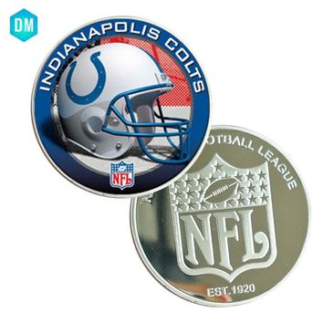Festival Souvenir Gifts INDIANAPOLIS COLTS Famous Football Team Coin 999.9 Silver Plated Art Work Metal Gifts Collection