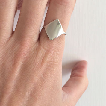 Shield Two Sterling Silver Ring