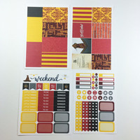 ECLP | Harry Potter | Gryffindor House Weekly Kit | 140 stickers
