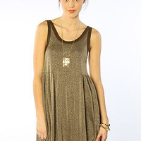 The Beach Cruise Town Dress in Chocolate Gold Combo