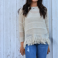 Baja Fringed Sweater