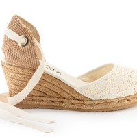 Sagaro Crochet Wedges - Ivory