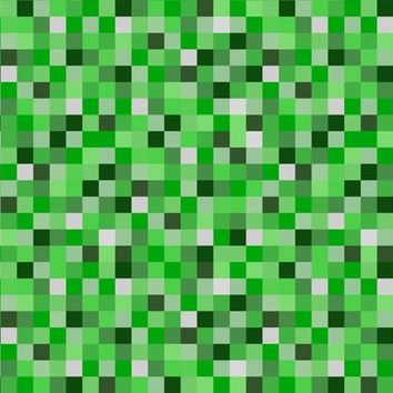 "8-bit Darker Green Pixels - 1.5"" - joyfulrose - Spoonflower"