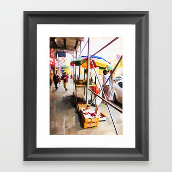 Street Vendors 2 Framed Art Print by lanjee