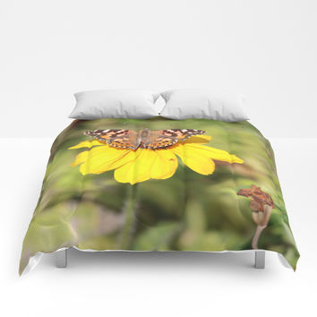 Autumn Butterfly Colors Comforters by Theresa Campbell D'August Art