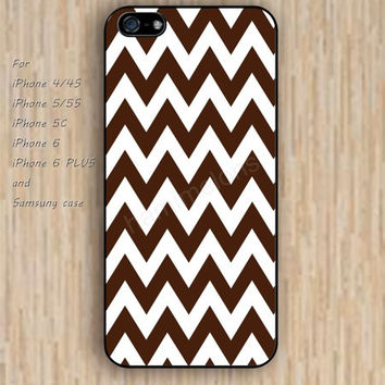 iPhone 6 case dream brown white chevron iphone case,ipod case,samsung galaxy case available plastic rubber case waterproof B186