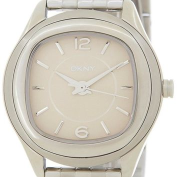 DKNY Empire Beige Dial Stainless Steel Women's Watch NY8806