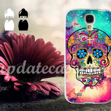 Sugar Skull Colorful - Photo Print for iPhone 4/4s, iPhone 5/5S/5C, Samsung S3 i9300, Samsung S4 i9500 Hard Case
