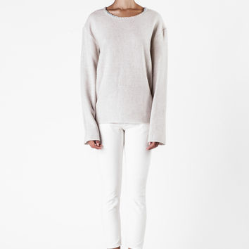 The Elder Statesman  - Natural Cashmere Sweater