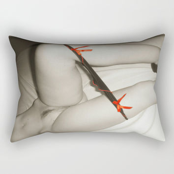 Naughty, naughty posing Rectangular Pillow by Casemiro Arts - Peter Reiss