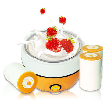 1L 15W Electric Automatic Yogurt Maker Stainless Steel Liner Household yogurt machine 220V / Send ceramic cup