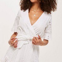 Broderie Wrap Playsuit | Topshop
